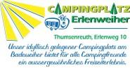Firmenschild Campingplatz Erlenweiher