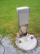 Strom, Frischwasser, Bodeneinlass für Abwasser